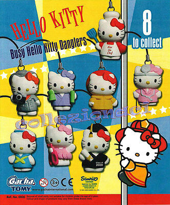 HELLO KITTY BUSY DANGLERS - TOMY NEWS 8 pezzi