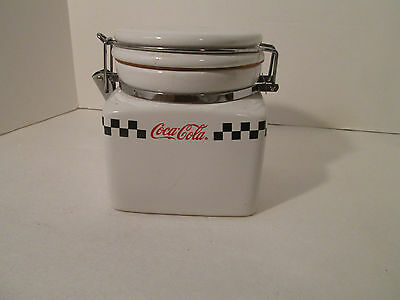 Gibson Collectible Coca Cola Canister with Hinged Lid 2002