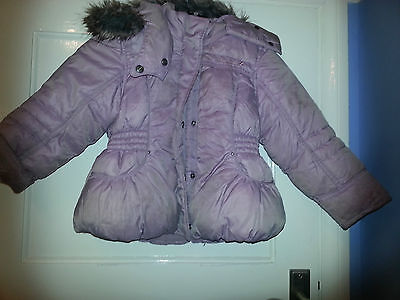 Pale pink puffa jacket from Next - age 5-6