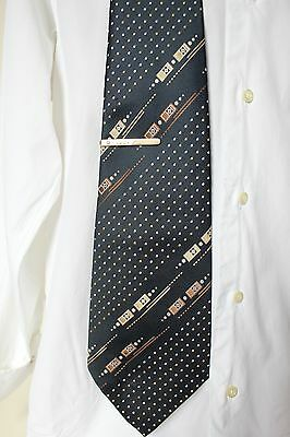 Vintage Hardy Amies Wide Polyester Mens Tie #3