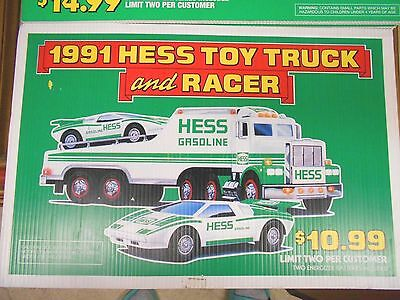 2  Hess Trucks Advertising Signs    1991 & 1994
