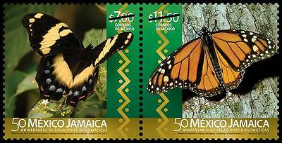 Mexico 2016  Butterfly 2 Val. Set Mnh New Issue