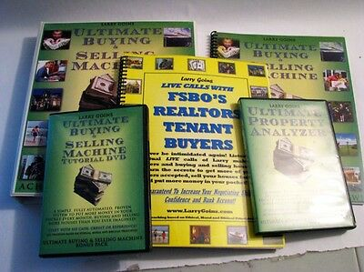 Ultimate Buying & Selling Machine Package Larry Goins - 3 Manuals, 9 Discs