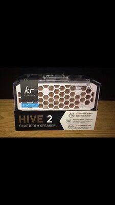 KitSound Hive2 Bluetooth Wireless Stereo Speaker for Smartphones - White