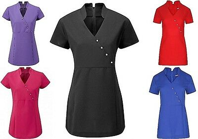 SPA Hair&Beauty Salon/Hairdresser Beautician Nail Massage Therapist Tunic V Neck