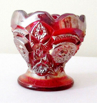 """Imperial Ruby Red Carnival Glass Egg Cup (2.5"""")  -  E"""