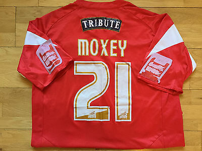 Dean Moxey Match Worn Signed & Framed Exeter City Home Shirt 2008/09 last season