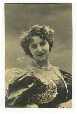 c 1903 Glamor PRETTY YOUNG LADY French photo postcard