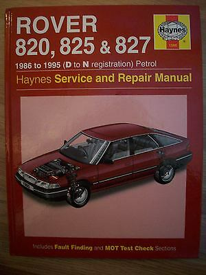 Haynes Rover 820 / 825 & 827 1986 To 1995 D To N Reg Ex Condition Manual L@@k