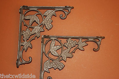 (10),grape, Leaf,corbels, Shelf Brackets,wall Brackets,country Decor, B-12