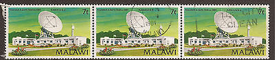 MALAWI. AFRICA. COMMUNICATIONS. 7t STRIP OF THREE. USED.
