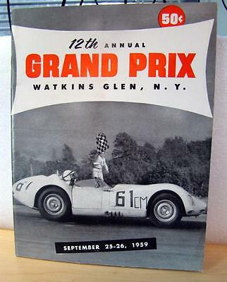 Watkins Glen 12th Annual Grand Prix September 1959 - With Official Entry list -