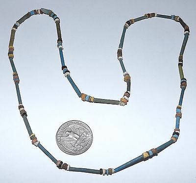 2500 Year old Ancient Egyptian Faience Mummy Bead NECKLACE (#D9523)