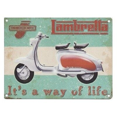 LAMBRETTA Scooter Motorbike WAY OF LIFE Advertising Metal Sign Great Decor Gift