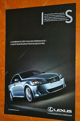 French 2009 Lexus Is 350 Sharp Canadian Luxury Car Ad