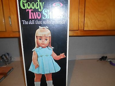 1965 Ideal Goody Two Shoes Walking Doll 0570-2 In The Orginal Box