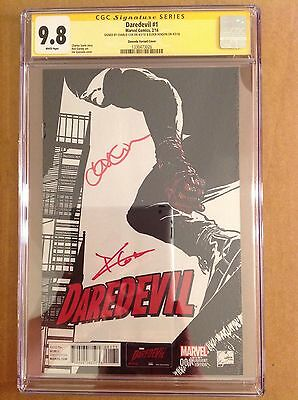 CGC 9.8 SS Daredevil #1 Quesada Variant Cover signed Charlie Cox & Henson