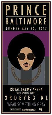 Prince - *POSTER*  - LIVE in Baltimore 2015 - AMAZING PICTURE - w/ 3rd Eye Girl
