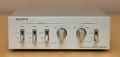 Vintage Sony SB 500 Tapecorder Selector Classic Tape Deck Selector
