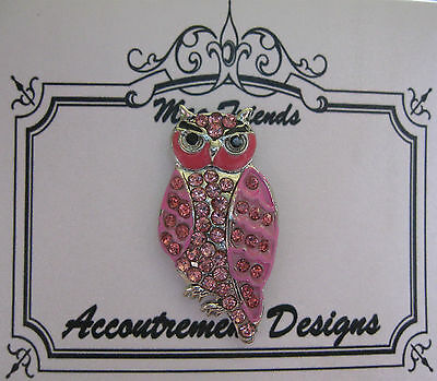 Accoutrement Designs Pink Owl Needle Minder Magnet Mag Friends