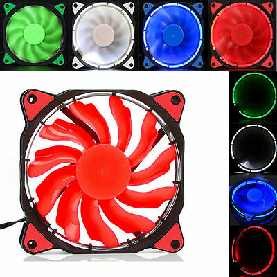 For Radiator Mod Quiet 120mm DC 12V 3 4pin LED effects Clear Computer Case Fan