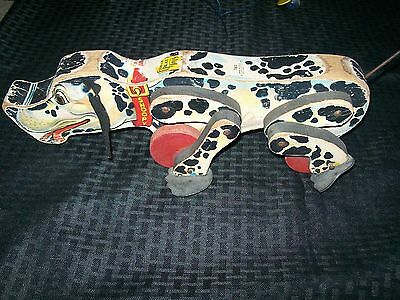 Vintage Fisher Price Wood Snoopy Dog Pull Toy 780 Lithograph Paper