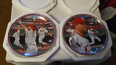 St Louis Cardinals Mark McGwire set of 2 Lim Ed Autographed Collector Plates