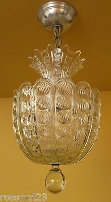 Vintage Lighting dazzling circa 1940 foyer fixture by Lightolier