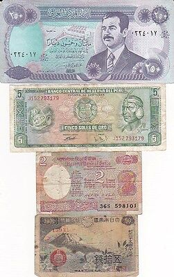 7 1920-1990 Circulated Notes From All Over