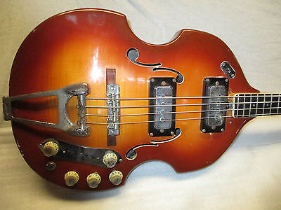1969 Vox Violin Bass -- Built In Effects -- Distortion, Booster & Tuner