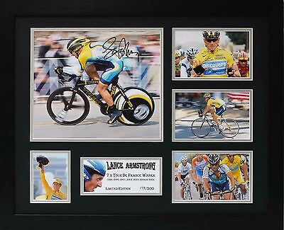 Lance Armstrong Limited Edition Framed Signed Memorabilia