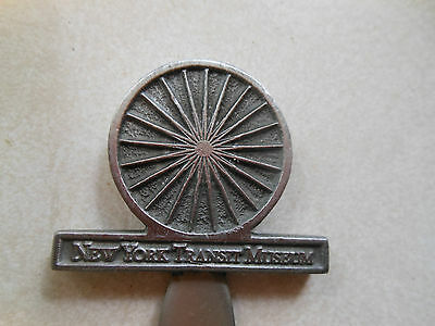 Excellent New York Transit System pewter Boxed letter opened