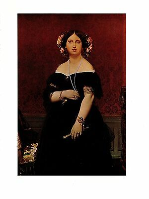 """1967 Vintage INGRES /""""THE COMTESSE D/'HAUSSONVILLE/"""" LOVELY COLOR offset Lithograph"""
