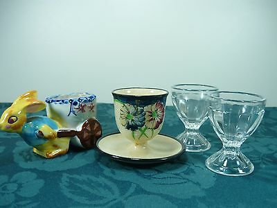 4 Non Matching Egg Cups