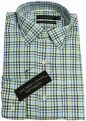 New The Mens Store Bloomingdales Soft Washed Egyptian Cotton Checked Shirt