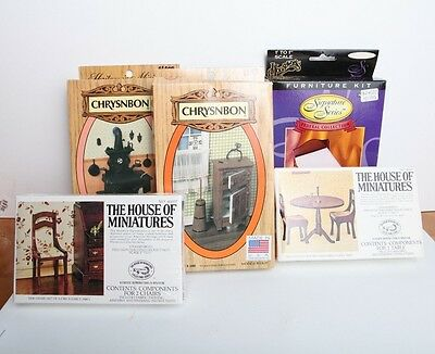 Lot of 5 Dollhouse Miniature Kits