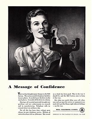 1942 Bell Telephone Systems a message of Confidence,