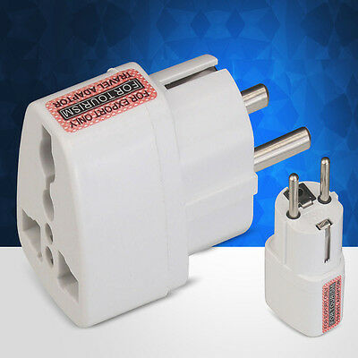 Travel Adapter Plug Charger Wall AC Power Plug Multi Socket Outlet Universal EU