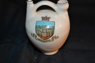 Vintage W H GOSS Crested China Model of Irish Ancient Carafe from Goodwin Sands