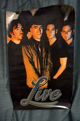 LIVE poster SIGNED ED KOWALCZYK CHAD TAYLOR Distance to Here Throwing Copper