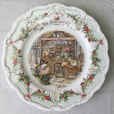 Royal Doulton Brambly Hedge Gift Collection Midwinter The Discovery Plate