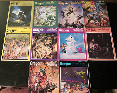 Dragon magazine issues #50-#59 * 10 magazines total see description below*