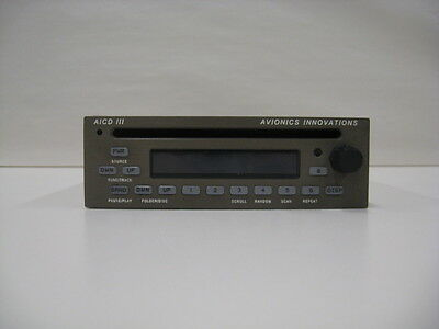 Avionics Innovations AM/FM CD Player.  Certifed and Tagged.