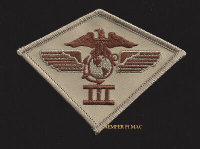3rd Marine Air Wing HAT PATCH 3d MAW US MARINES PIN UP MCAS DESERT TAN BROWN WOW