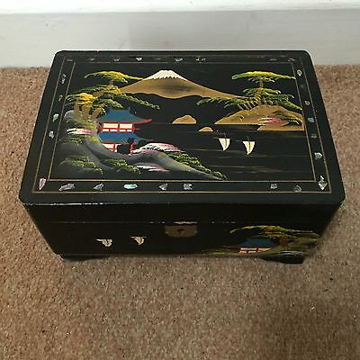 Japanese Mother Of Pearl Inlaid Musical Tea Caddy