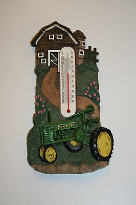 John Deere Tractor, Agriculture, Barn - Wall Thermometer