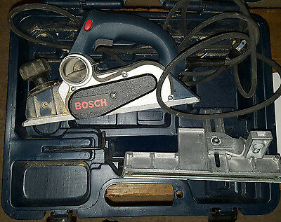 "Bosch #1594 Power Corded Planer 6.5 Amp 3-1/4"" With Hard Case Vguc"