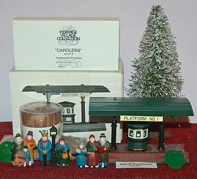 Dept.56 Accessories Lot#917 HERITAGE VILLAGE Great Lot With Beautiful Pieces!