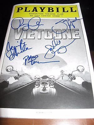 Vietgone Full Cast autographed Off Broadway Playbill