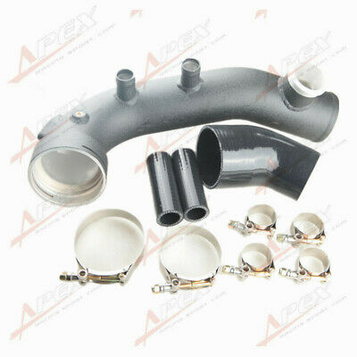 Intake Turbo Charge Pipe Cooling Kit For BMW N54 E88 E90 E92 135i 335i Black